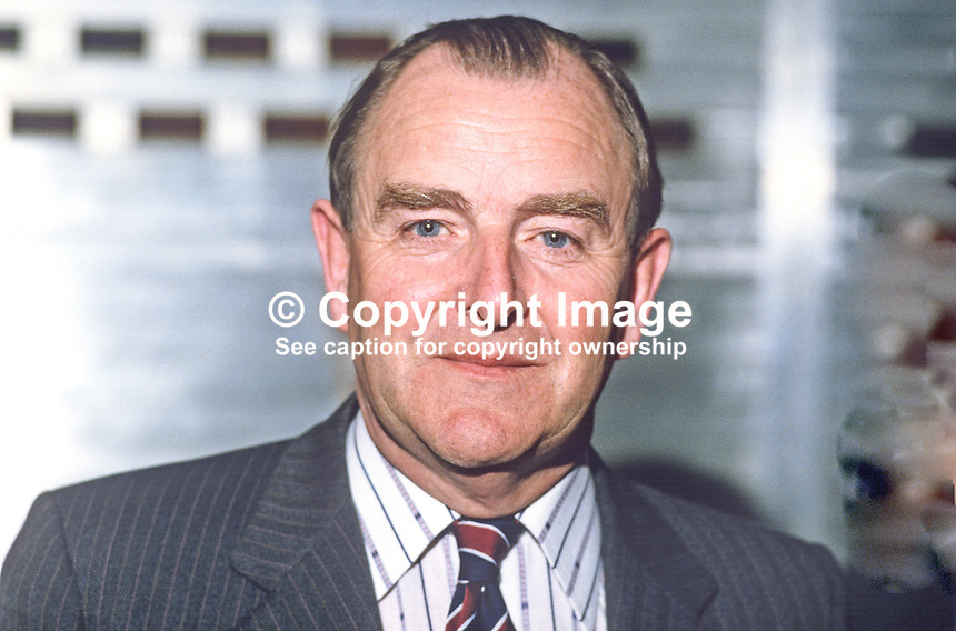 Sir John Hermon, chief constable, RUC, Royal Ulster Constabulary, N Ireland, 19840065JH1<br /> <br /> Copyright Image from Victor Patterson, 54 Dorchester Park, Belfast, UK, BT9 6RJ<br /> <br /> t: +44 28 90661296<br /> m: +44 7802 353836<br /> vm: +44 20 88167153<br /> e1: victorpatterson@me.com<br /> e2: victorpatterson@gmail.com<br /> w: www.victorpatterson.com<br /> <br /> For my Terms and Conditions of Use go to www.victorpatterson.com
