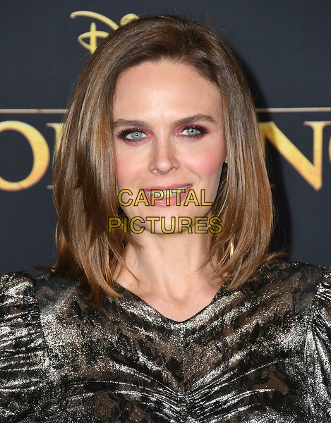 """09 July 2019 - Hollywood, California - Emily Deschanel. Disney's """"The Lion King"""" Los Angeles Premiere held at Dolby Theatre. <br /> CAP/ADM/BT<br /> ©BT/ADM/Capital Pictures"""