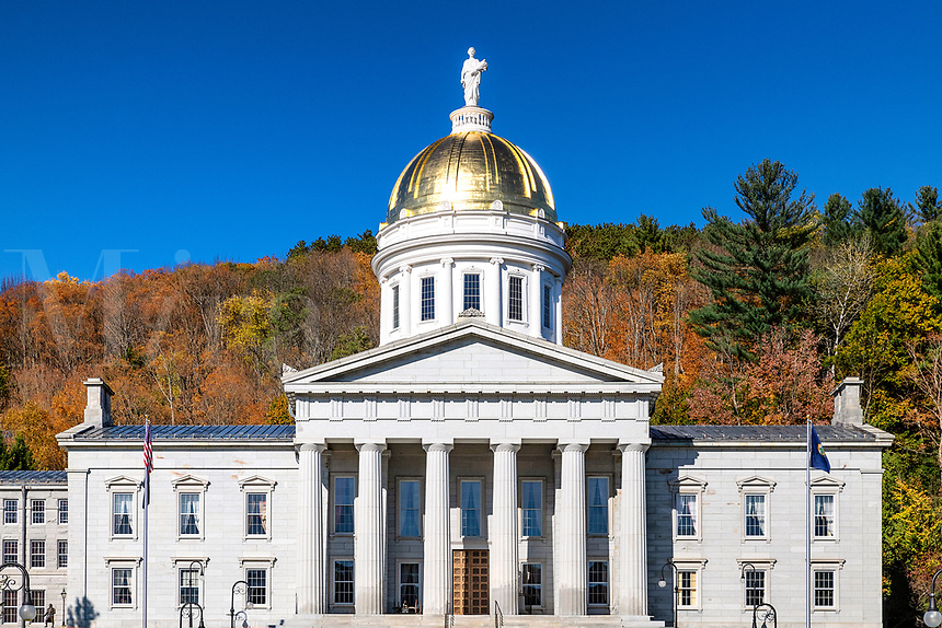 Vermont State House, Montpelier, Vermont, USA.