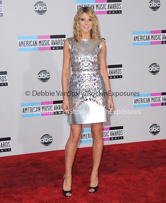 Heidi Klum attends 2011 American Music Awards held at The Nokia Theater Live in Los Angeles, California on November 20,2011                                                                               © 2011 DVS / Hollywood Press Agency