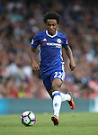 Chelsea's Willian in action during the Premier League match at the Emirates Stadium, London. Picture date September 24th, 2016 Pic David Klein/Sportimage