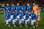 Italian football team poses before the FIFA friendly football match Spain vs Italy on March 5, 2014 on the eve of their World Cup 2014 at the Vicente Calderon stadium in Madrid.  PHOTOCALL3000 / DP