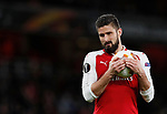 Arsenal's Olivier Giroud in action  during the Europa League Group H match at The Emirates Stadium, London. Picture date: December 7th 2017. Picture credit should read: David Klein/Sportimage