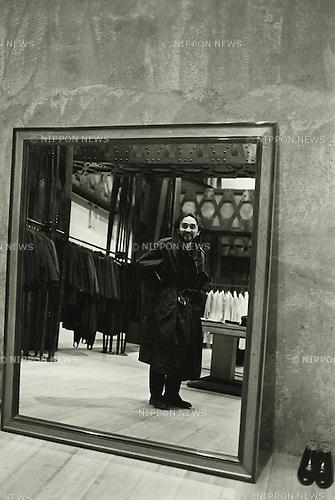 1990, Japan - Youji Yamamoto was a Japanese fashion designer. (Photo by Koichi Saito/AFLO)
