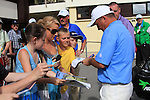 Damien McGrane  signs autographs after finishing his round on 6 under at the 3 Irish Open, at the Killarney Golf and Fishing Club, Killarney, Ireland.Picture Fran Caffrey/www.golffile.ie.