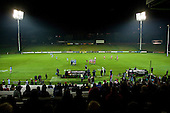 The view from the Stadium early in the second half. Counties Manuaku Steelers vs Northland pre-season Air New Zealand NPC rugby game played at Bayer Growers Stadium Pukekohe on July 24th 2009..Northland won 10 - 3.