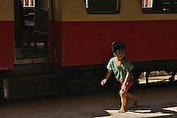 Boy at Yangon Train Station, Myanmar