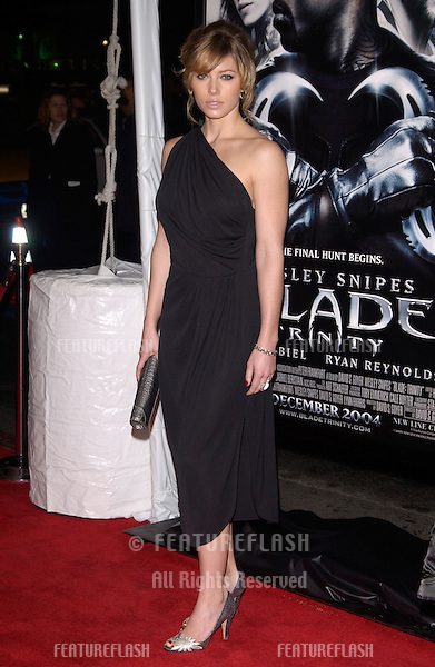 Dec 7, 2004; Los Angeles, CA: Actress JESSICA BIEL at the Los Angeles premiere of her new movie Blade: Trinity..