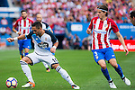 Atletico de Madrid's player Filipe Luis and Deportivo de la Coruña's player Florin Andone during a match of La Liga Santander at Vicente Calderon Stadium in Madrid. September 25, Spain. 2016. (ALTERPHOTOS/BorjaB.Hojas)