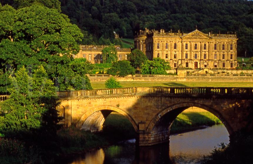 England. Chatsworth House Stately Home..Derbyshire.