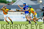 Sean Nolan Kilmoyley in action against Brian McAuliffe Lixnaw in the Kerry County Senior Hurling championship Final between Kilmoyley and Lixnaw at Austin Stack Park on Sunday.