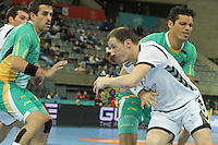 18.01.2013 Barcelona, Spain. IHF men's world championship, prelimanary round. Picture show Igor Markovic    in action during game between Montenegro vs Brazil at Palau St Jordi