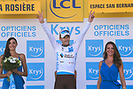 Pierre Latour (FRA) AG2R La Mondiale retains the White Jersey at the end of Stage 11 of the 2018 Tour de France running 108.5km from Albertville to La Rosiere Espace San Bernardo, France. 18th July 2018. <br /> Picture: ASO/Pauline Ballet | Cyclefile<br /> All photos usage must carry mandatory copyright credit (&copy; Cyclefile | ASO/Pauline Ballet)
