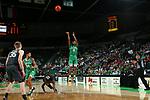 DENTON, TX - DECEMBER 05: North Texas Mean Green Men's Basketball v Oklahoma at Super Pit - North Texas Coliseum on December 5, 2019 in Denton, Texas.