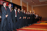 D.C. United players,at the United Kickoff luncheon, at the Marriott hotel in Washington DC, March 5, 2012.