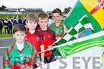 flag bearers at the Killarney Féile parade on Saturday evening were l-r: Oran O'Shea kilcummin, Patrick Morris and Keelan O'Sullivan Glenbeigh/Glencar and Keelan O'Shea Kilcummin