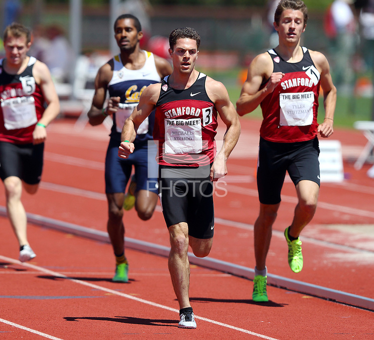 Stanford, CA; Saturday April 20, 2013: Track & Field Big Meet, Stanford vs California.