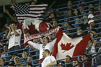 March 7, 2009:  Fans of Team Canada and Team USA during the first round of the World Baseball Classic at the Rogers Centre in Toronto, Ontario, Canada.  Team USA defeated Canada 6-5 in both teams opening game of the tournament.  Photo by:  Mike Janes/Four Seam Images