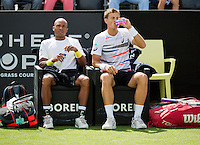 Netherlands, Den Bosch, 15.06.2014. Tennis, Topshelf Open,  doubles team  Monroe/Pospisil (R)<br /> Photo:Tennisimages/Henk Koster