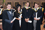 With Compliments,  25/8/2015  Attending the University of Limerick Conferrings were Brian O' Connell, Dingle, Kerry, Charlotte Cooney, Carnmore, Galway, Dan Morrissey, Ahane, Limerick, who were all conferred with a BA in Law and Accounting, and David King, Coolderry, Offally, who was conferred with a LLB in Law Plus.<br /> Pic: Gareth Williams / Press 22