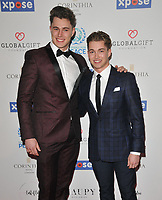Curtis Pritchard and AJ Pritchard at the Football For Peace Initiative Dinner by Global Gift Foundation, Corinthia Hotel, Whitehall Place, London, England, UK, on Monday 08th April 2019.<br /> CAP/CAN<br /> ©CAN/Capital Pictures