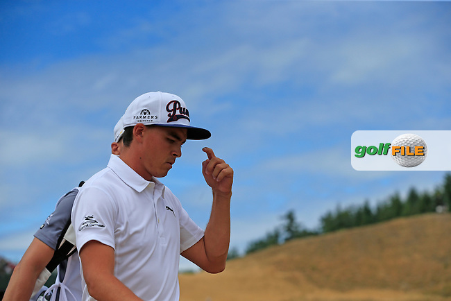 Rickie FOWLER (USA) walks off the 4th tee during Thursday's Round 1 of the 2015 U.S. Open 115th National Championship held at Chambers Bay, Seattle, Washington, USA. 6/18/2015.<br /> Picture: Golffile | Eoin Clarke<br /> <br /> <br /> <br /> <br /> All photo usage must carry mandatory copyright credit (&copy; Golffile | Eoin Clarke)