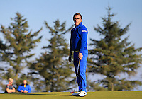 A.P McCoy (AM) on the 11th green during Round 2 of the 2015 Alfred Dunhill Links Championship at Kingsbarns in Scotland on 2/10/15.<br /> Picture: Thos Caffrey | Golffile