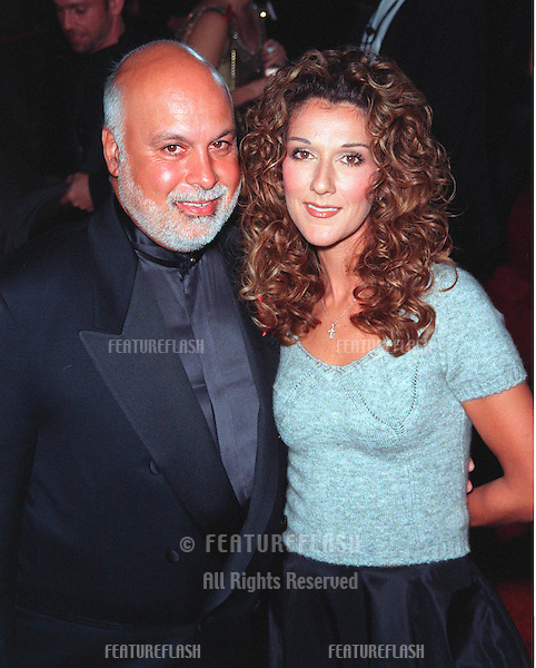 10JAN99:  Singer CELINE DION & husband at the 25th Annual People's Choice Awards in Pasadena, California. She won for favorite female musical performer..© Paul Smith / Featureflash