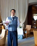 The Halekulani Hotel, the Hawaiian name meaning House Befitting Heaven, located on Waikiki beach in Honolulu, Hawaii offers stunning views of Diamond Head in a historic, secluded and exclusive setting. Afternoon tea in the historic Veranda.