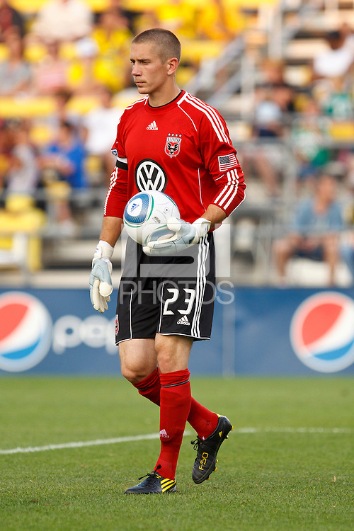 26 JUNE 2010:  Troy Perkins #23 of DC United during MLS soccer game between DC United vs Columbus Crew at Crew Stadium in Columbus, Ohio on May 29, 2010. The Crew defeated DC United 2-0.