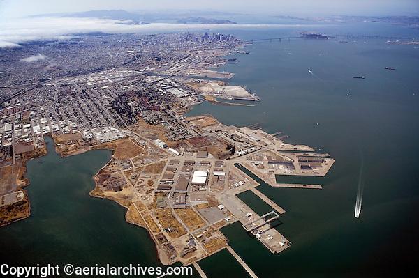aerial photograph Hunter's Point San Francisco, California