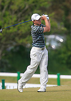 Paul Dunne (Greystones) on the 1st tee during the 3rd round of the East of Ireland Amateur Open Championship 2013 Co Louth Golf club 3/6/13<br /> Picture:  Thos Caffrey / www.golffile.ie