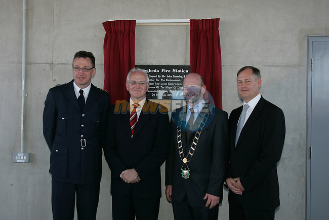Drogheda new Fire station official opening...Photo: Newsfile/Fran Caffrey.