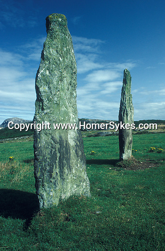 Penrhos Feilw Standing Stones  Near Holyhead, Anglesey Wales UK