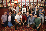David Yazbek with the cast and crew from 'The Band's Visit' during the Sardi's Portrait unveiling for The Band's Visit composer-lyricist David Yazbek at Sardi's on June 7, 2018 in New York City.