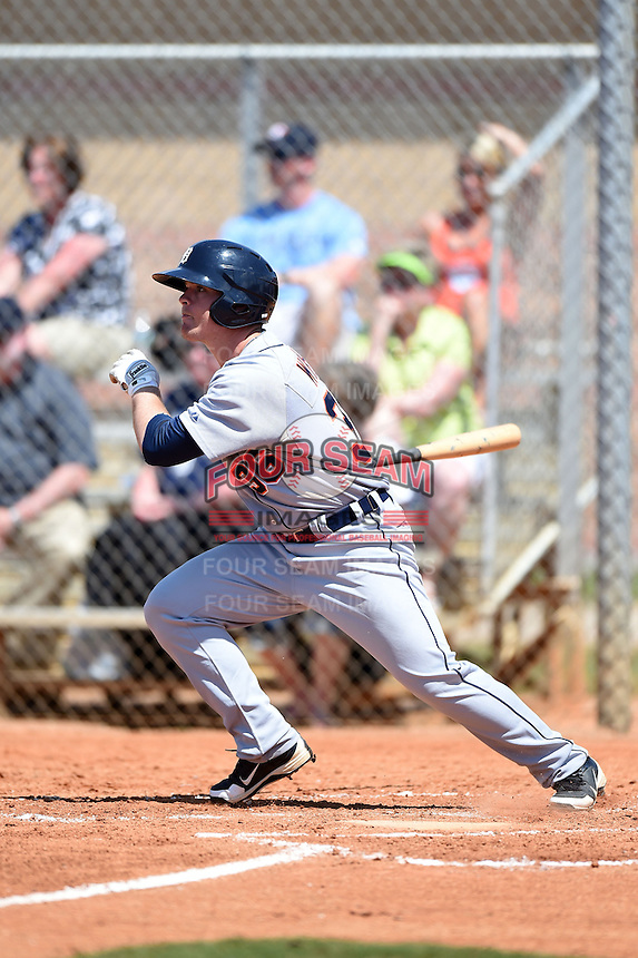 Detroit Tigers outfielder Chad Wright  (36) during a minor league spring training game against the Houston Astros on March 21, 2014 at Osceola County Complex in Kissimmee, Florida.  (Mike Janes/Four Seam Images)