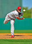 13 March 2009: St. Louis Cardinals' pitcher Chris Perez on the mound during a Spring Training game against the Baltimore Orioles at Fort Lauderdale Stadium in Fort Lauderdale, Florida. The Cardinals defeated the Orioles 6-5 in the Grapefruit League matchup. Mandatory Photo Credit: Ed Wolfstein Photo