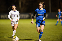 Seattle, WA - Thursday, March, 08, 2018: Georgia Cloepfil during a preseason match between the Seattle Reign FC and University of Washington at Husky Soccer Stadium.