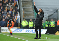 Wolverhampton Wanderers manager Nuno waves to the home fans<br /> <br /> Photographer Ashley Crowden/CameraSport<br /> <br /> The EFL Sky Bet Championship - Wolverhampton Wanderers v Birmingham City - Sunday 15th April 2018 - Molineux - Wolverhampton<br /> <br /> World Copyright &copy; 2018 CameraSport. All rights reserved. 43 Linden Ave. Countesthorpe. Leicester. England. LE8 5PG - Tel: +44 (0) 116 277 4147 - admin@camerasport.com - www.camerasport.com