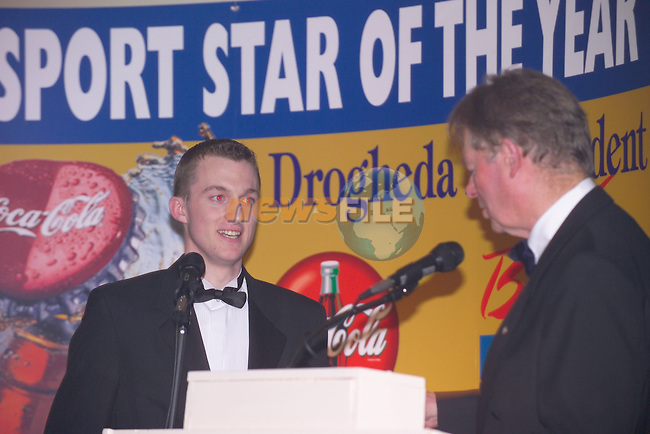 Sport Star of the Year 2003 Sponsored by Drogheda Concentrates in Association with the Boyne Valley Country Club..August winner John Kierans.Photo Fran Caffrey/Newsfile.ie...This Picture has been sent to you by Newsfile Ltd..The Studio,.Millmount Abbey,.Drogheda,.Co. Meath,.Ireland..Tel: +353(0)41-9871240.Fax: +353(0)41-9871260.ISDN: +353(0)41-9871010.www.newsfile.ie..general email: pictures@newsfile.ie