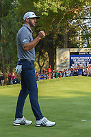 Dustin Johnson (USA) reacts to sinking his final putt of the day to win the World Golf Championships, Mexico, Club De Golf Chapultepec, Mexico City, Mexico. 2/24/2019.<br /> Picture: Golffile | Ken Murray<br /> <br /> <br /> All photo usage must carry mandatory copyright credit (© Golffile | Ken Murray)