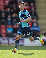 Matt Bloomfield of Wycombe Wanderers during the Sky Bet League 2 match between Leyton Orient and Wycombe Wanderers at the Matchroom Stadium, London, England on 1 April 2017. Photo by Andy Rowland.