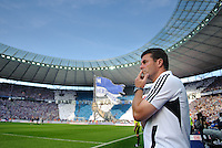Fussball Bundesliga Saison 2011/2012 1. Spieltag Hertha BSC Berlin - 1. FC Nuernberg Trainer Dieter HECKING (Nuernberg).