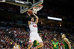 Wisconsin Badgers center Frank Kaminsky (44) shoots the ball during the third-round game in the NCAA college basketball tournament against the Oregon Ducks Saturday, April 22, 2014 in Milwaukee. The Badgers won 85-77. (Photo by David Stluka)