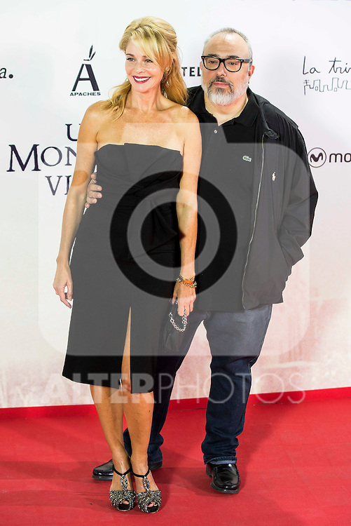 "Belen Rueda and Alex de la Iglesia during the premiere of the spanish film ""Un Monstruo Viene a Verme"" of J.A. Bayona at Teatro Real in Madrid. September 26, 2016. (ALTERPHOTOS/Borja B.Hojas)"