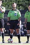 23 October 2016: Referee Mark Sauro. The Wake Forest University Demon Deacons hosted the University of Notre Dame Fighting Irish at Spry Stadium in Winston-Salem, North Carolina in a 2016 NCAA Division I Women's Soccer match. Notre Dame won the game 1-0.