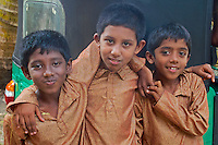 These boys are part of a local small school and getting ready for their performance on stage.Colombo,Sri Lanka.