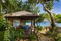 BNPS.co.uk (01202 558833)<br /> Pic: ColdwellBankerJamaicaRealty/BNPS<br /> <br /> 00-Heaven<br /> <br /> A paradise villa nestled in the grounds of James Bond creator Ian Fleming's Jamaican estate has emerged on the market for £3.6million ($4.75m).<br /> <br /> Strangeways is on the historic estate of GoldenEye, a parcel of 15 acres of land Fleming bought in 1946 on the island's north shore.<br /> <br /> The legendary British author who died in 1964 used it as an idyllic writing base, bathing in the ocean then sunbathing in the garden before picking up his pen and getting to work for the day. Jamaica features prominently as a location in both the first James Bond film, Dr No, and the upcoming No Time To Die.<br /> <br /> The Strangeways compound, consisting of a main two storey house, two cottages and a kitchen building, sits on top of a cliff with sweeping ocean front views of the Caribbean.<br /> <br /> It is being sold with estate agent Coldwell Banker Jamaica Realty.