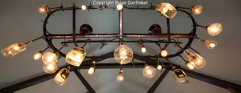A light fixture is seen at the Tullamore Dew Experience in Tullamore, County Offaly, Ireland on Monday, June 24th 2013. (Photo by Brian Garfinkel)