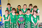 St. Brendan's U12 team A front l-r  Ben Healy, Thomas Scally, Sean Dillan, Graham Sheehy, Josh Roche. back l-r Sean Kissane, Ali Sow, Garry Lynch, Jack Clapham and Matthew Hussey at the  St. Brendan's Basketball Club Tralee U12 invitational tournament at Moyderwell sports hall at the weekend, next year will be called the Jimmy Curran memorial Cup